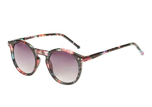 Topshop Lila Floral Round Sunglasses