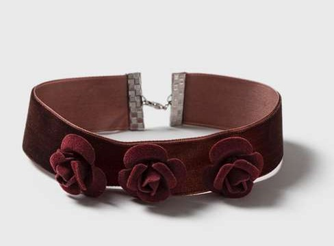 Topshop Rose Velvet Choker Necklace