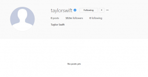 Taylor Swift Blank IG