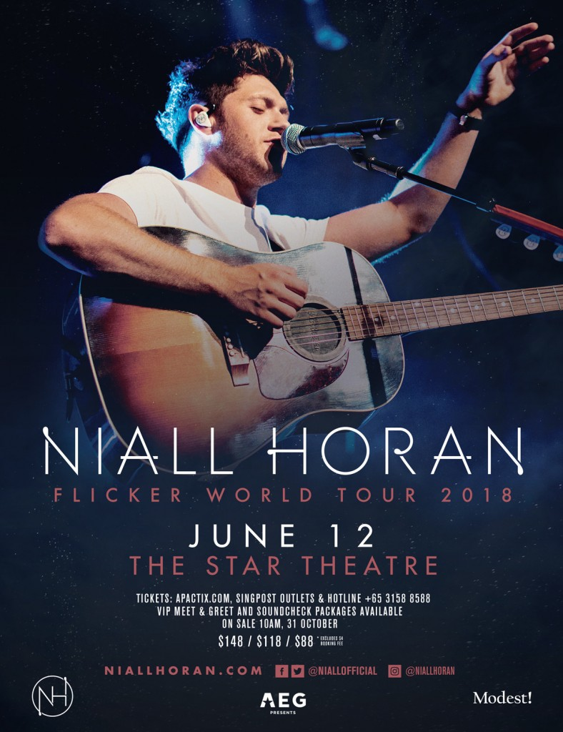 Niall Horan Flicker World Tour Singapore 2018_KeyVisual