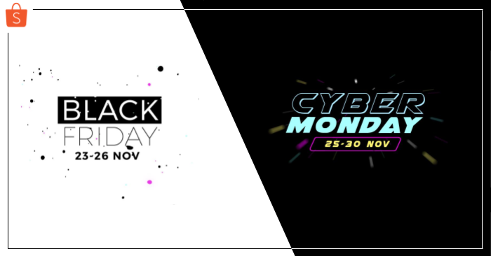Shopee Black Friday & Cyber Monday Banner