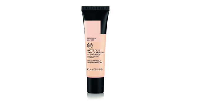 The-Body-Shop-Matte-Clay-Skin-Clarifying-Foundation,-$20