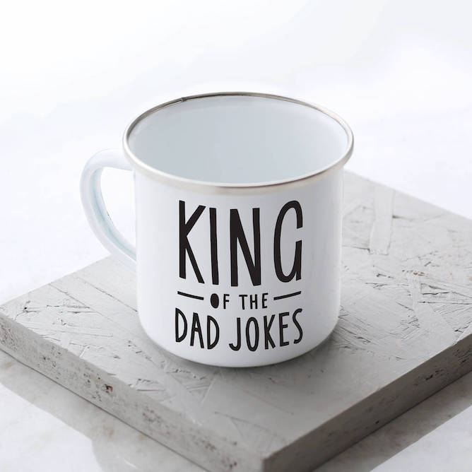 Old English Company's King Of The Dad Jokes Enamel Mug