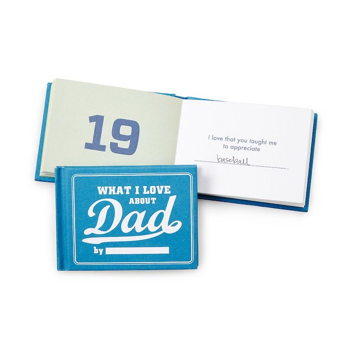 UncommonGoods' What I Love About Dad By Me Book